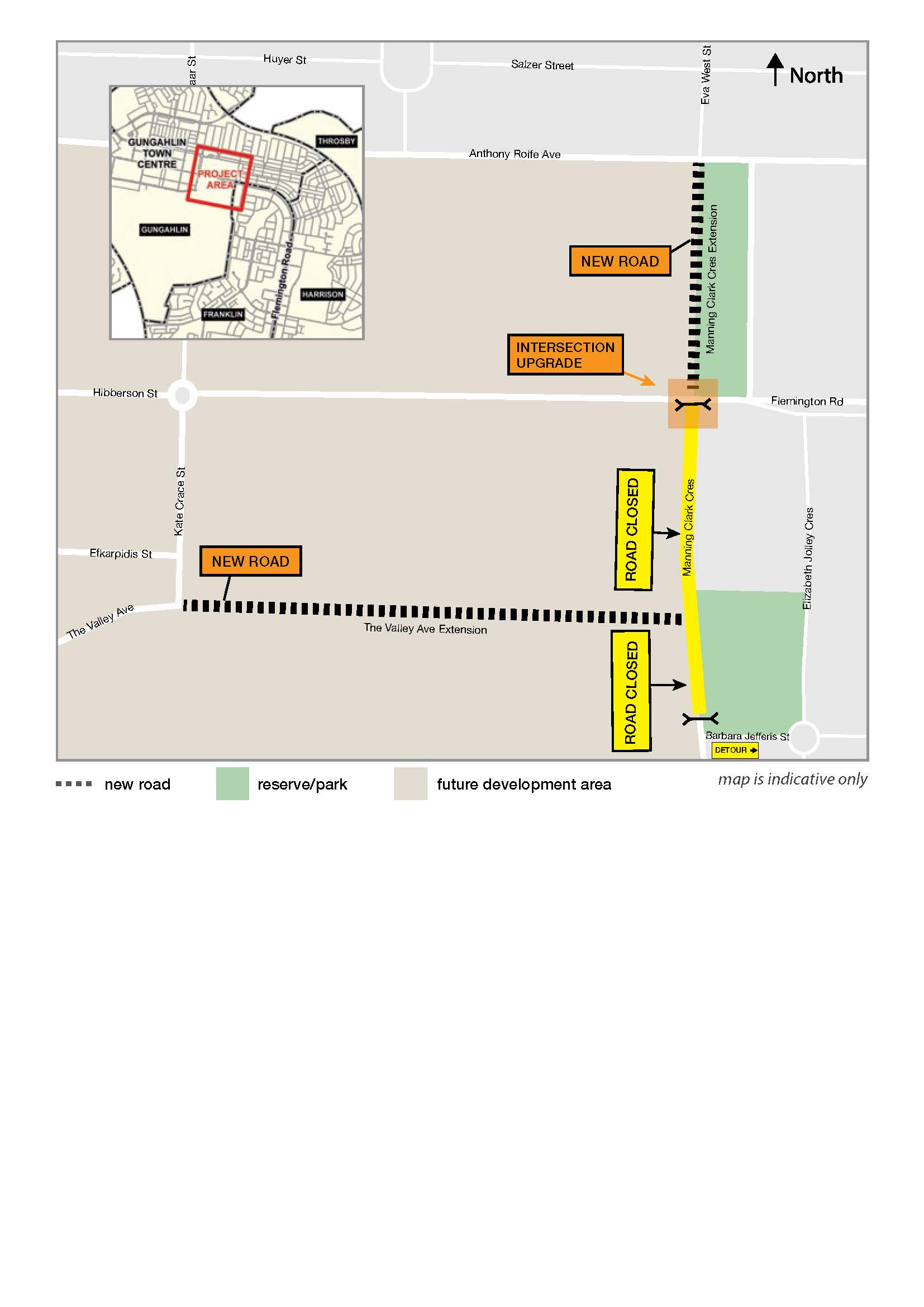 Road closure – Manning Clark Crescent