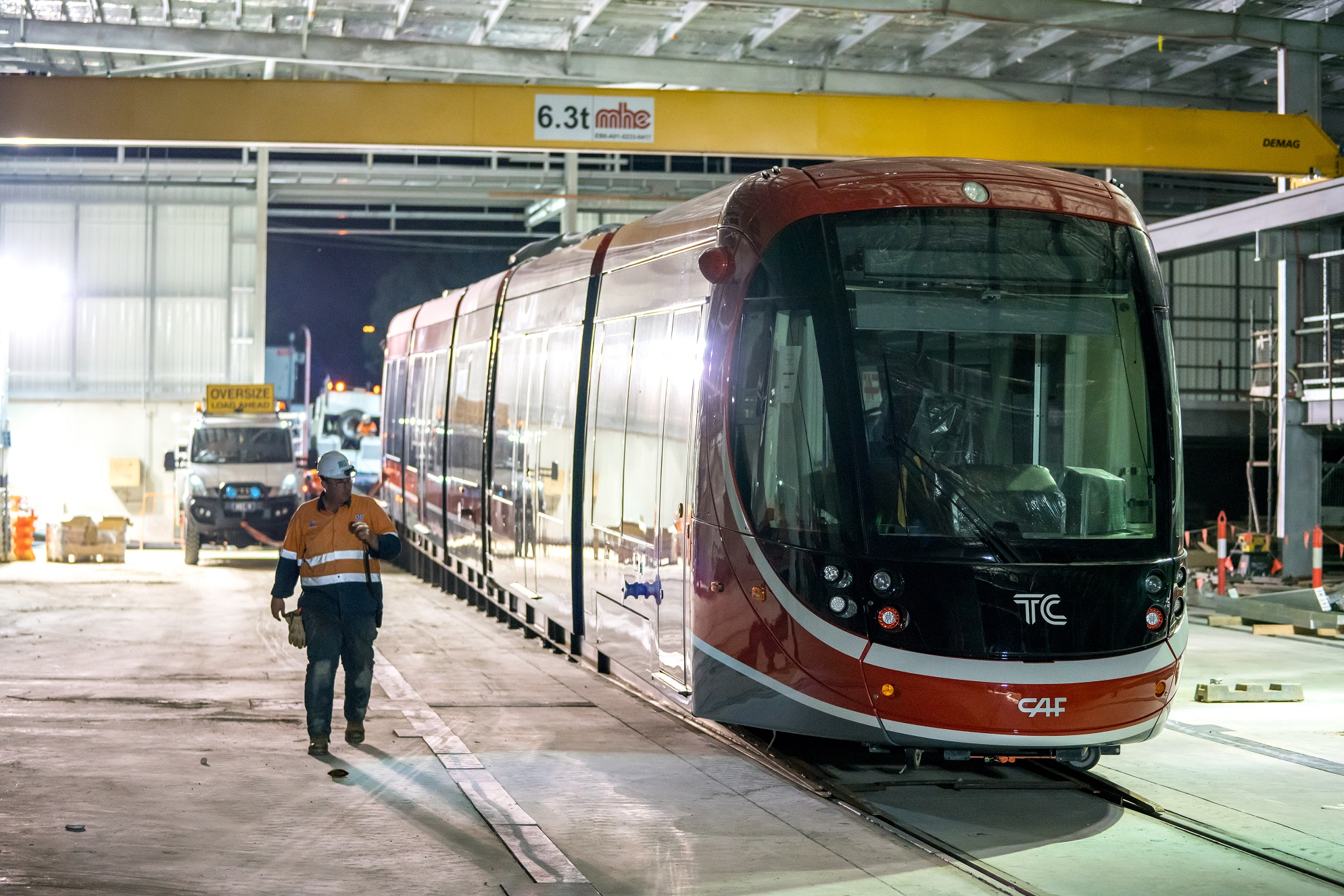 Canberra's first Light Rail Vehicle is here!