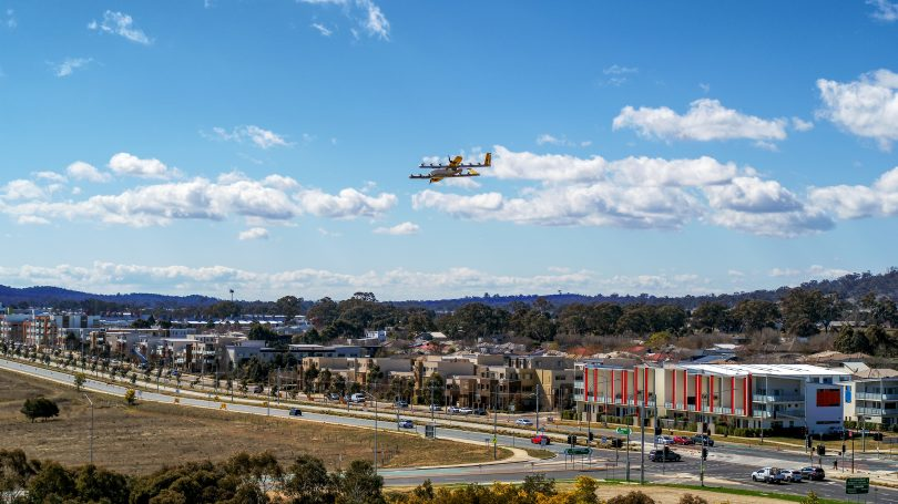 Delivery Drones in Gungahlin