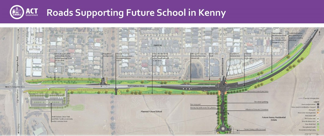 Early designs released for road upgrades to support the future school in Kenny